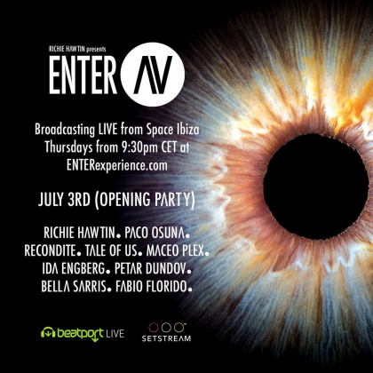 "Richie Hawtin's ""ENTER"" livestream from Space Ibiza (week 1)"