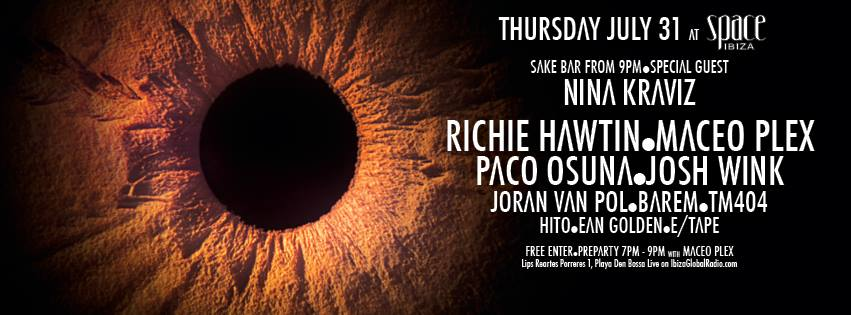 "LIVE Richie Hawtin's ""ENTER"" from Space Ibiza WEEK#5"
