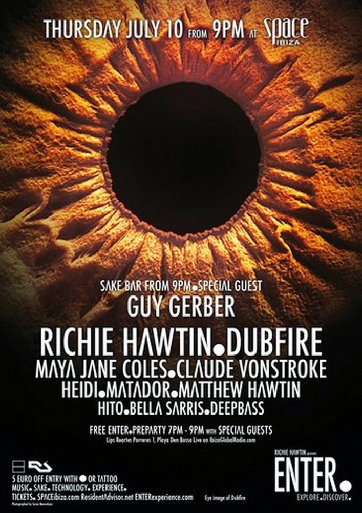 Dubfire – ENTER. Main, Week 2 (Space, Ibiza) – 10-07-2014