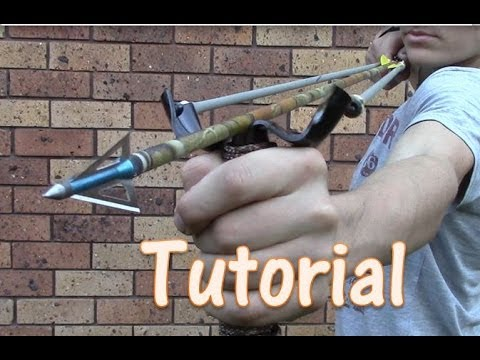 DIY Saturday #9 –  PVC Slingbow for $5 zombie defense , fishing , compact, deadly