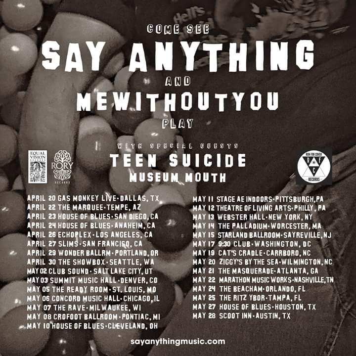 Say Anything Spring Tour