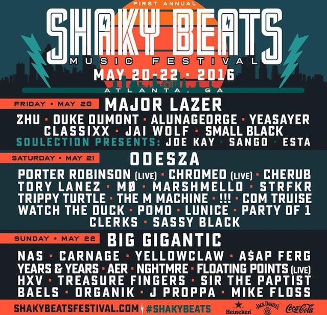 Shaky Beats Music Festival 2016