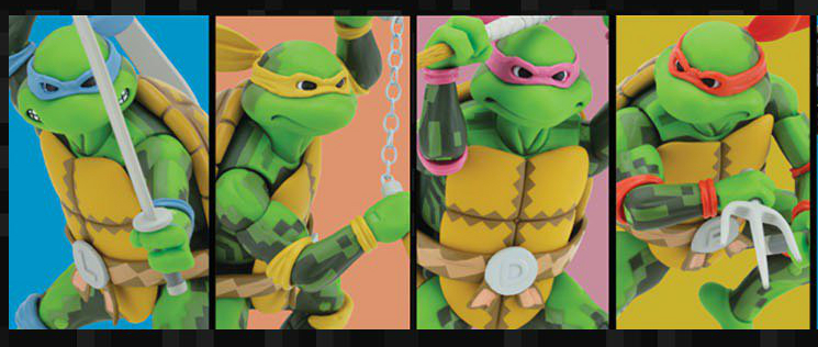 Teenage Mutant Ninja Turtles Arcade Game Action Figures